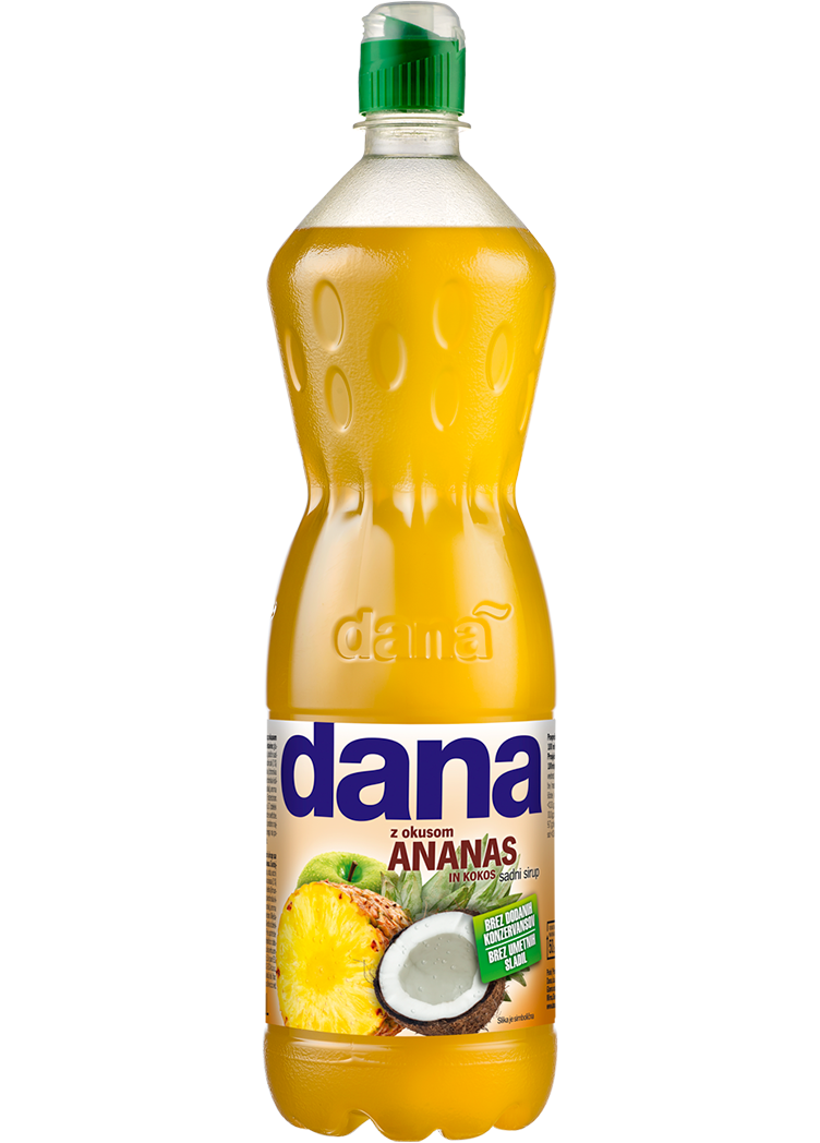 Dana fruit syrup, pineapple, coconut
