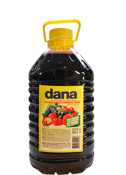 DANA, fruit syrup, apple, forest fruits