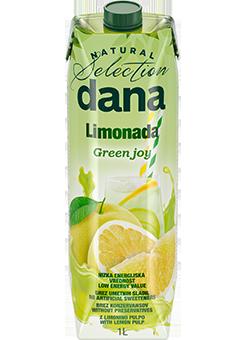 DANA Limonada Green joy – nizkoenergijska negazirana brezalkoholna pijača s sokom limone in grenivke