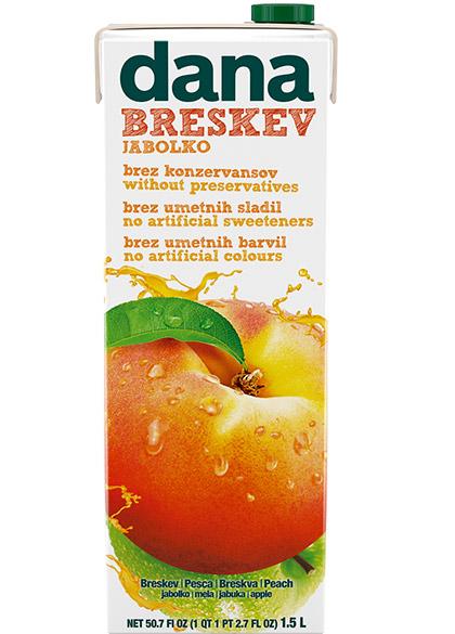 DANA fruit drink 25%, peach, apple