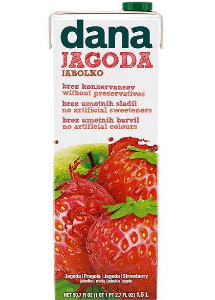 DANA fruit drink 25%, strawberry, apple