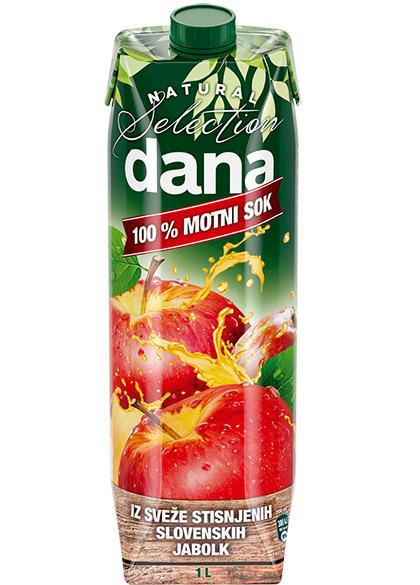 DANA 100 % motni sok, jabolko
