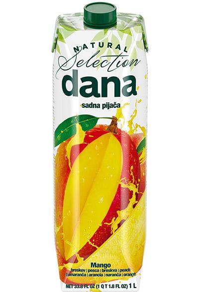 DANA sadna pijača 20 %, mango, breskev, pomaranča