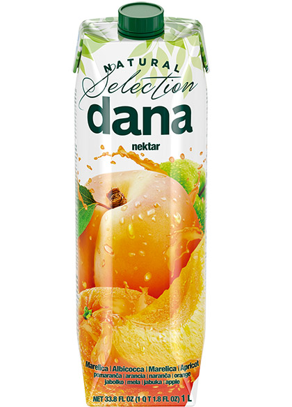 DANA nektar 42 %, marelica, pomaranča, jabolko