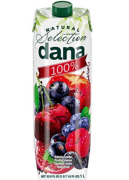DANA 100 % sok, crveno voće