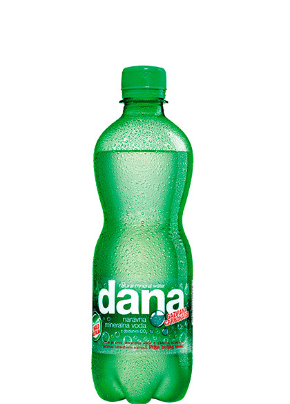 DANA natural mineral water with added CO<sub>2</sub>