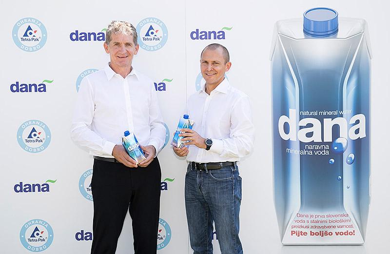 Tetra Pak® in Dana predstavila naravno mineralno vodo v inovativni kartonski embalaži