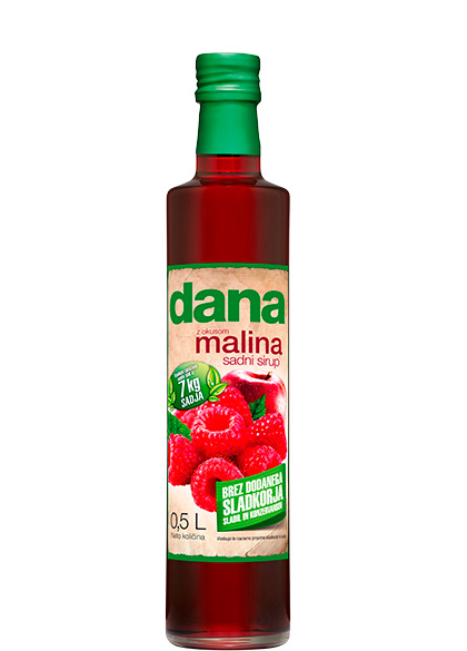DANA, fruit syrup, raspberry