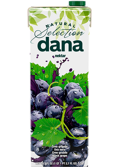 DANA nectar 50%, black grapes, apple